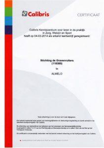 Calibris certificaat